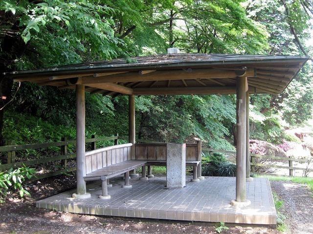 新宿御苑のベンチ