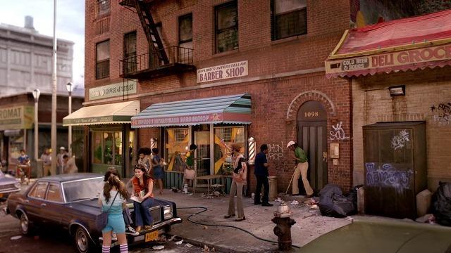 舞台となるニューヨークの街並み