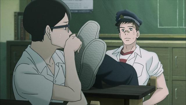 教室の千太郎と薫
