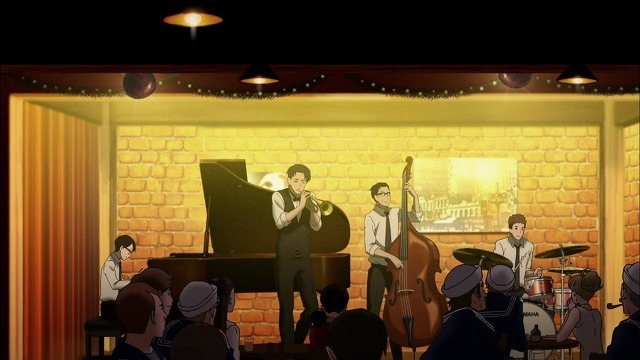 ジャズクラブで演奏する千太郎たち