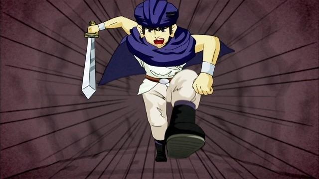 雑なアニメで描かれたヨシヒコ