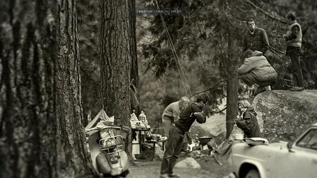 キャンプ4のクライマーたち