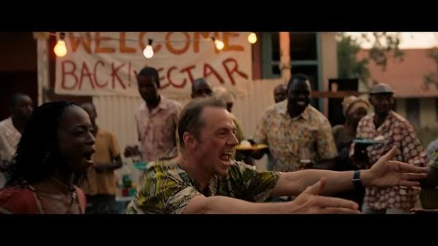 アフリカでへクターのために開かれたのパーティのシーン