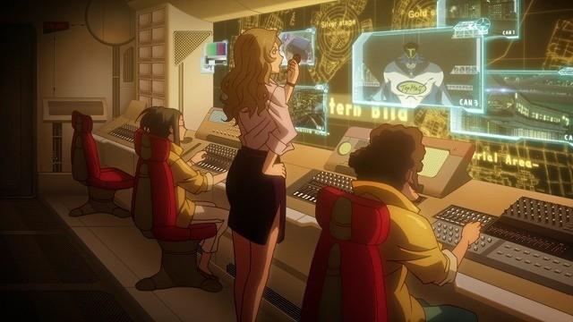 番組の指令室からプロデューサーが虎徹に指示をしている