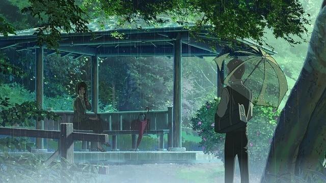 タカオとユキノの出会いのシーン