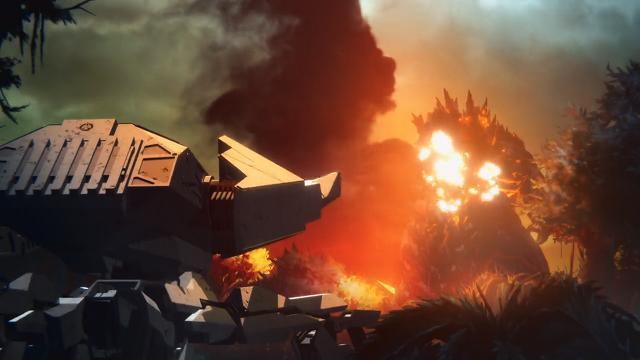 GODZILLA-熱い戦闘