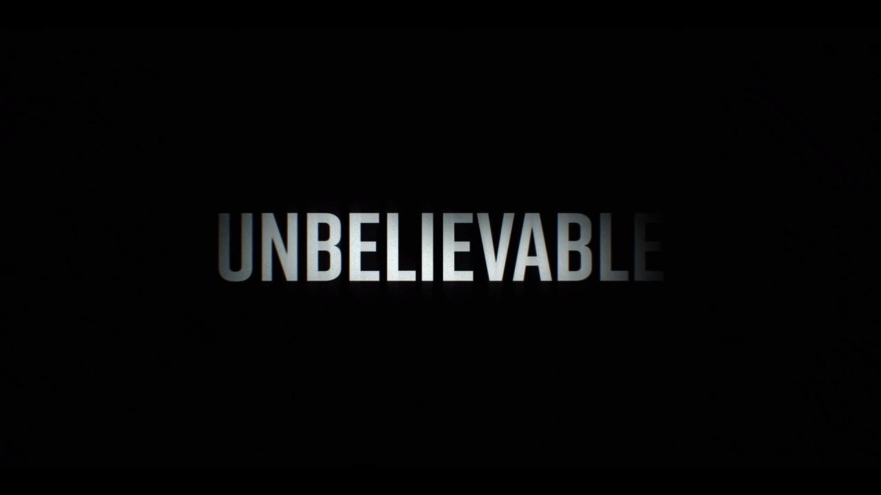 Netflix ドラマ「アンビリーバブル たった一つの真実」タイトル